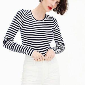 Jcrew Perfect Fit Long Sleeve Stripe Tee